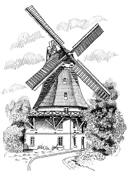 Mühlenzeichnung Mewes
