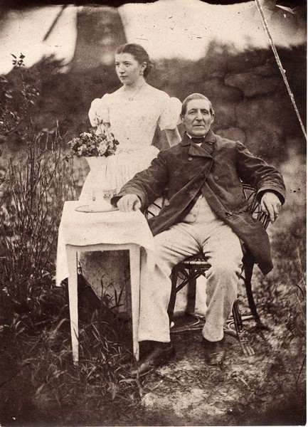 Christoph Cordes mit Tochter Wilhelmine